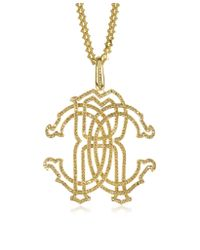 Roberto Cavalli - Metallic Rc Icon Pendant Necklace - Lyst
