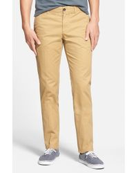 Original Penguin | Natural 'p55' Slim Fit Chinos for Men | Lyst