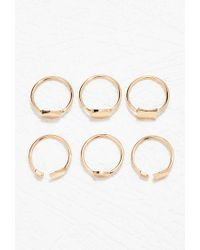 Forever 21 | Metallic Geo-shape Ring Set | Lyst