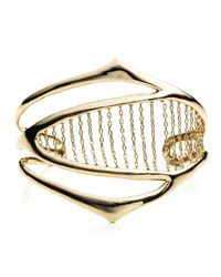 Alexis Bittar | Metallic Kinetic Gold Chain Ribbed Cuff You Might Also Like | Lyst