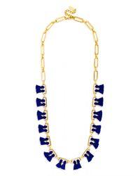 BaubleBar - Blue Sebastian Tassel Collar - Lyst