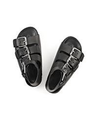 Alexander Wang | Black Idina Buckled Leather Sandals | Lyst