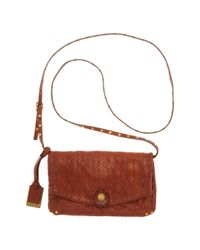 Frye | Brown Convertible Textured Leather Clutch | Lyst