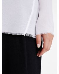 DKNY - White Pure Knit Trim Pullover - Lyst