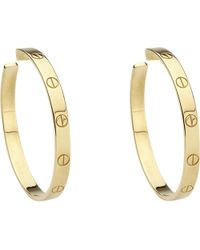 Cartier | Metallic Love 18ct Yellow-gold Earrings | Lyst