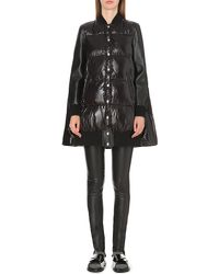 Sacai | Black Cape-back Quilted Coat | Lyst