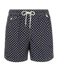 Polo Ralph Lauren - Black Polka Dot Swim Shorts for Men - Lyst