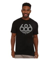 686 - Black Wreath S/s T-shirt for Men - Lyst