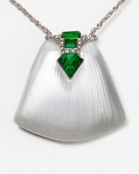 "Alexis Bittar - Metallic Lucite Crystal Shield Pendant Necklace, 16"" - Lyst"