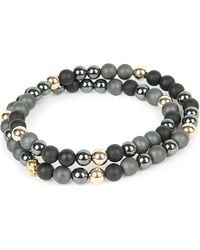Nialaya | Gray 14ct Gold Skull | Lyst