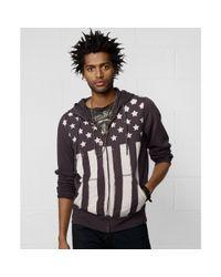 Denim & Supply Ralph Lauren | Black Zipfront Fleece Hoodie for Men | Lyst