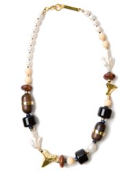 Lizzie Fortunato | Black Shark Tooth Beaded Necklace | Lyst