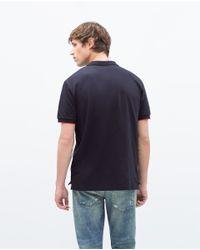 Zara | Blue Basic Polo Shirt for Men | Lyst