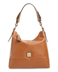 Dooney & Bourke - Brown 'seville - Sophie' Leather Hobo - Lyst