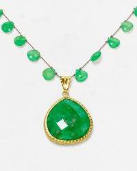 """Coralia Leets - Green Braided Macrame Necklace, 16.5"""" - Lyst"""