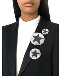 Givenchy | Metallic Set Of Three Badges | Lyst