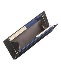 Jimmy Choo - Blue Tux Metallic Denim Mirror Leather And Suede Clutch Bag - Lyst