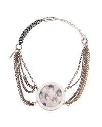 Lisa E Moss - Metallic Python Skin Necklace - Lyst