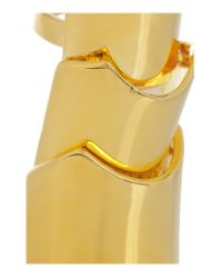Eddie Borgo - Metallic Hinged Gold-plated Ring - Lyst
