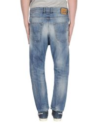 DIESEL - Blue Relaxed Straight Jeans for Men - Lyst