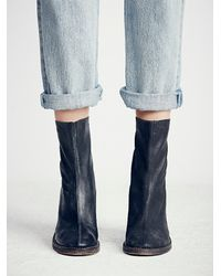 Free People - Black Marquis Heel Boot - Lyst