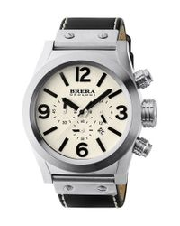 Brera Orologi - Metallic 'eterno Chrono' Chronograph Leather Strap Watch for Men - Lyst