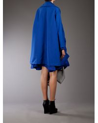 Comme des Garçons | Blue Layered Trench Coat | Lyst