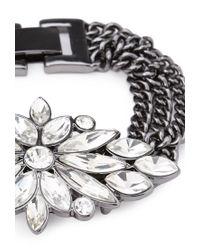 Forever 21 - Metallic Faux Gem Flower Bracelet - Lyst