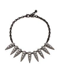 Lulu Frost - Black Jabrosa Spike Necklace - Lyst