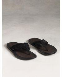 John Varvatos | Black Artisan Thong Sandal for Men | Lyst