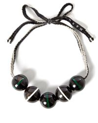 Marni | Black Sphere Horn Necklace | Lyst
