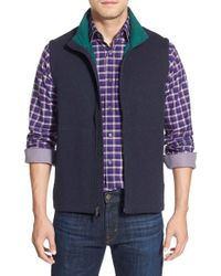 Bugatchi | Blue Knit Zip Vest for Men | Lyst