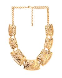 Forever 21 | Metallic Cutout Craze Collar Necklace | Lyst