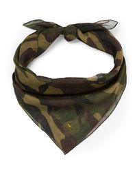 Saint Laurent | Green Camouflage-Print Cotton And Cashmere-Blend Bandana for Men | Lyst