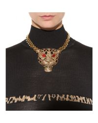Roberto Cavalli - Metallic Embellished Gold-Plated Chain - Lyst