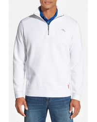 Tommy Bahama | White 'antigua Cove' Half Zip Pullover for Men | Lyst