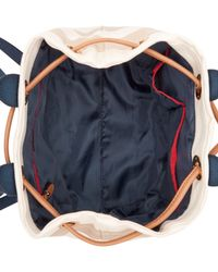 Tommy Hilfiger - Natural Grommets Woven Rugby Stripe Drawstring Backpack - Lyst