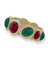 Kenneth Jay Lane - Multicolor Ruby And Emerald Hinged Cabochons - Lyst