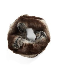Badgley Mischka | Multicolor Faux Fur Infinity Scarf | Lyst