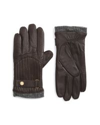 Polo Ralph Lauren - Brown Leather Gloves for Men - Lyst
