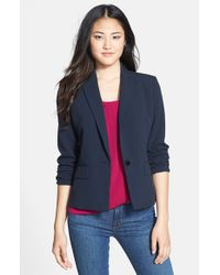 Anne Klein | Blue One-button Blazer | Lyst