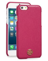 Tory Burch - Red 'robinson' Iphone 6 & 6s Case - Lyst