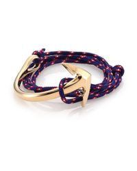 Miansai | Blue Half Anchor Triple-Wrap Rope Bracelet | Lyst