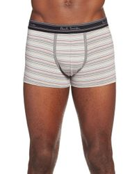 Paul Smith | Gray Stripe Stretch Cotton Trunks for Men | Lyst