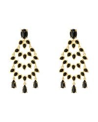 Vince Camuto | Metallic Stone Drama Chandelier Earrings | Lyst