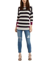 Oasis | Natural Double Stripe Jumper | Lyst