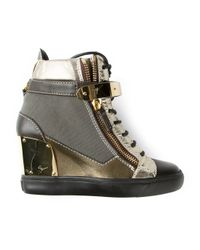 Giuseppe Zanotti | Brown Wedge Trainer | Lyst