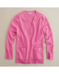 J.Crew | Pink Cashmere Cardigan | Lyst