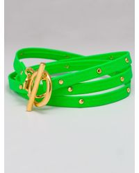 Gorjana | Graham Leather Wrap Bracelet In Neon Green | Lyst