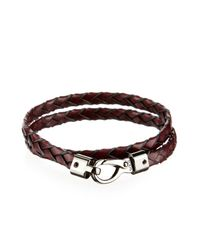 Tod's - Purple Woven Leather Bracelet for Men - Lyst